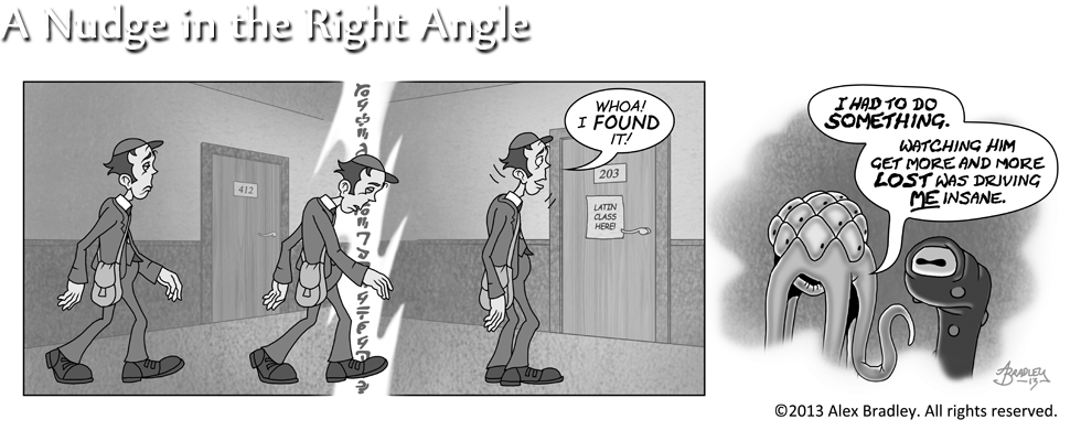 A Nudge in the Right Angle