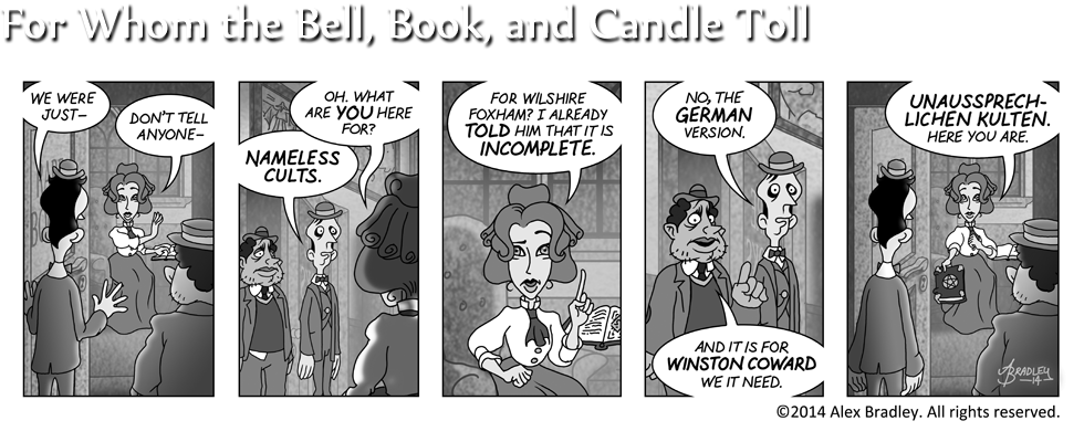 For Whom the Bell, Book, and Candle Toll