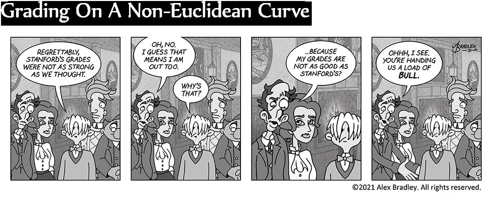 Grading On A Non-Euclidean Curve